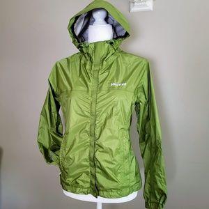 🍍 4/$15 Marmot Full Zip Green Hooded Windbreaker